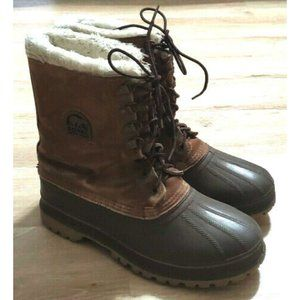 Sorel Mens Brown Insulated Snow Boots Size 10